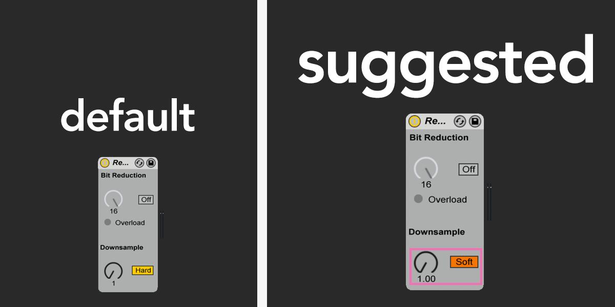 redux bit reduction ableton live