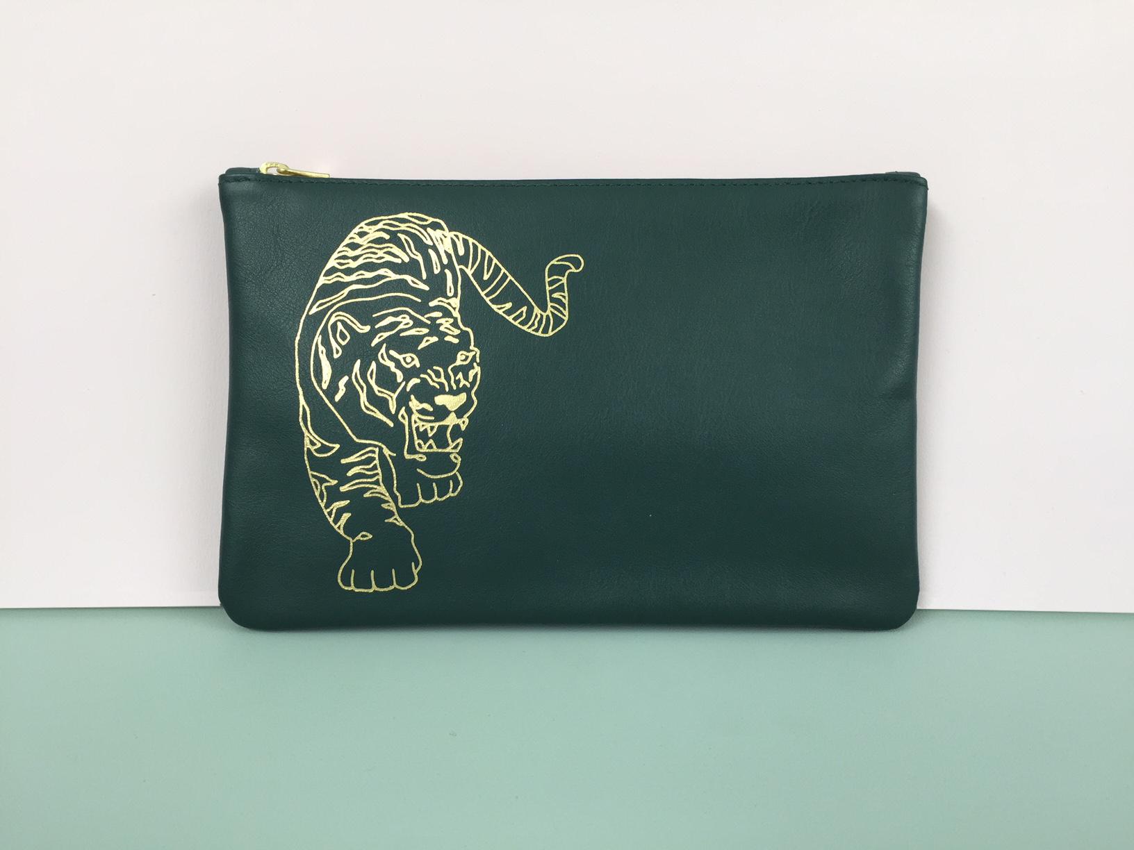 LT001-FT - etui tiger forest green