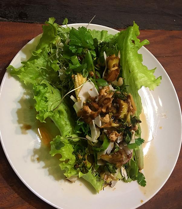 Raw vegan lettuce leaf wrap. One of my favourite dinner items.