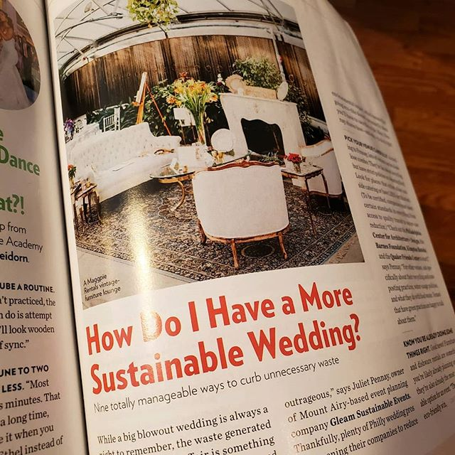 #tbt to when Gleam Sustainable Events was featured in the Winter / Spring edition of Philadelphia Weddings. I loved being able to share my tips to having a low waste wedding!⠀ *⠀ Link to article in bio.  @philawedding #philawedding #sustainablephilly #sustainableeventplanner #sustainableweddingplanner #sustainablewedding #sustainable #zerowaste #savetheearth #whattheprosknow