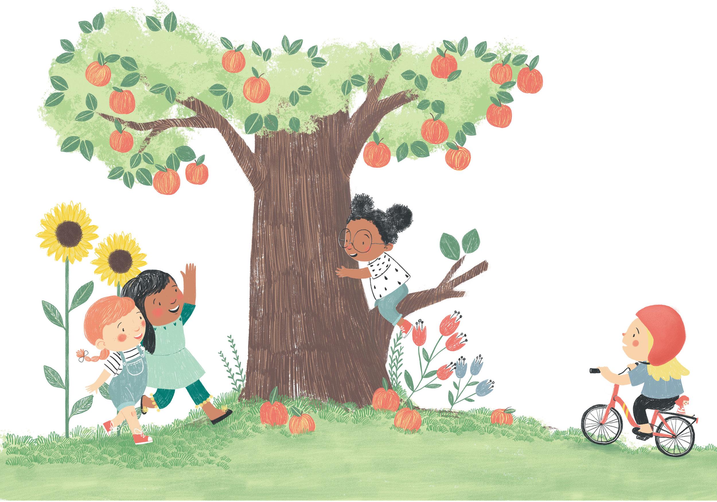 girls around the tree.jpg