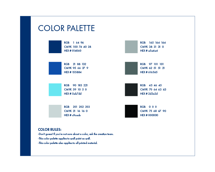 Style Guide Color Palette