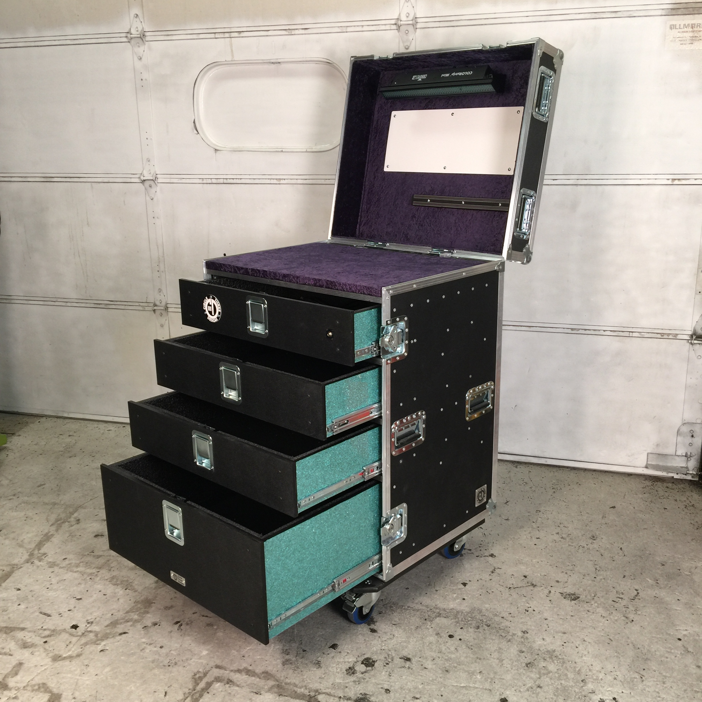 32x28 Guitar Tech Workbox Navy and Teal IN STOCK.JPG