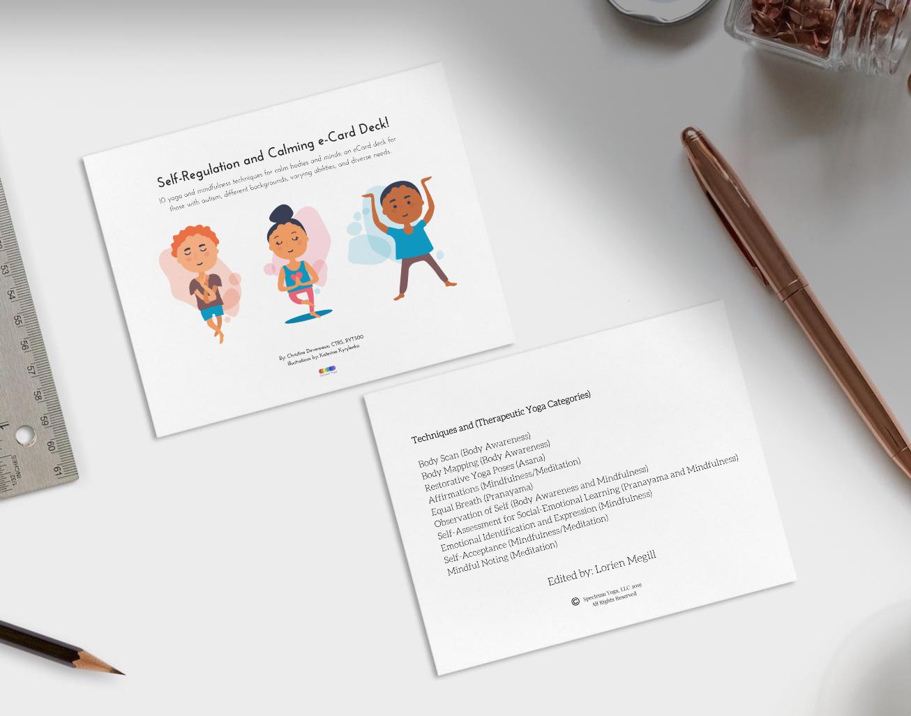 An e-Card Deck for Autism! - 10 Techniques. 26 Cards.