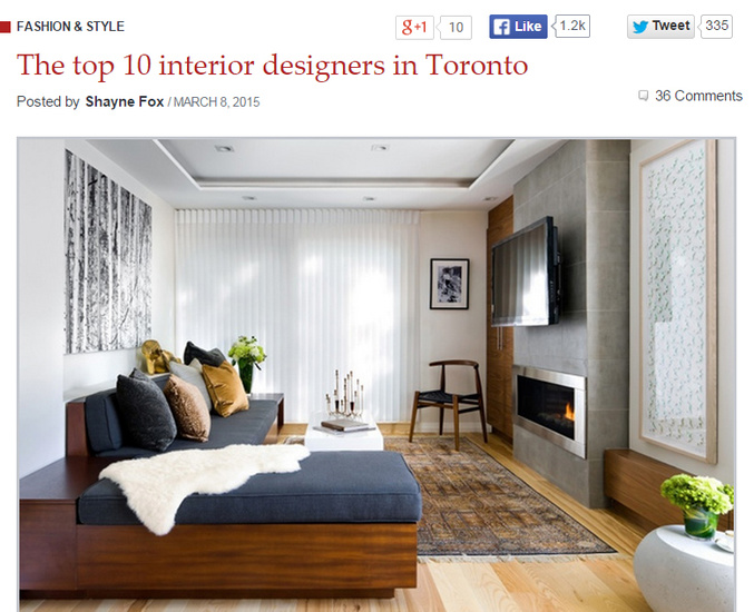 We are honoured to be included in this amazing list of Toronto Interior Designers! Thanks BlogTO!   http://www.blogto.com