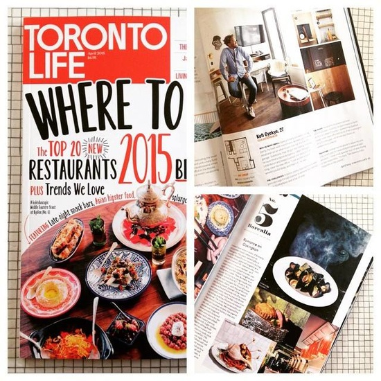 Qanuk has not one but TWO projects featured in the April 2015 Issue of Toronto Life!  Borealia Restaurant coming in at #5 of {Best New Restaurants} and our great client Kofi's cool 500sq.ft condo in {Micro Living}.