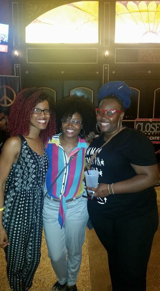 Me and two of the girls from small groups at the Mali Music concert.