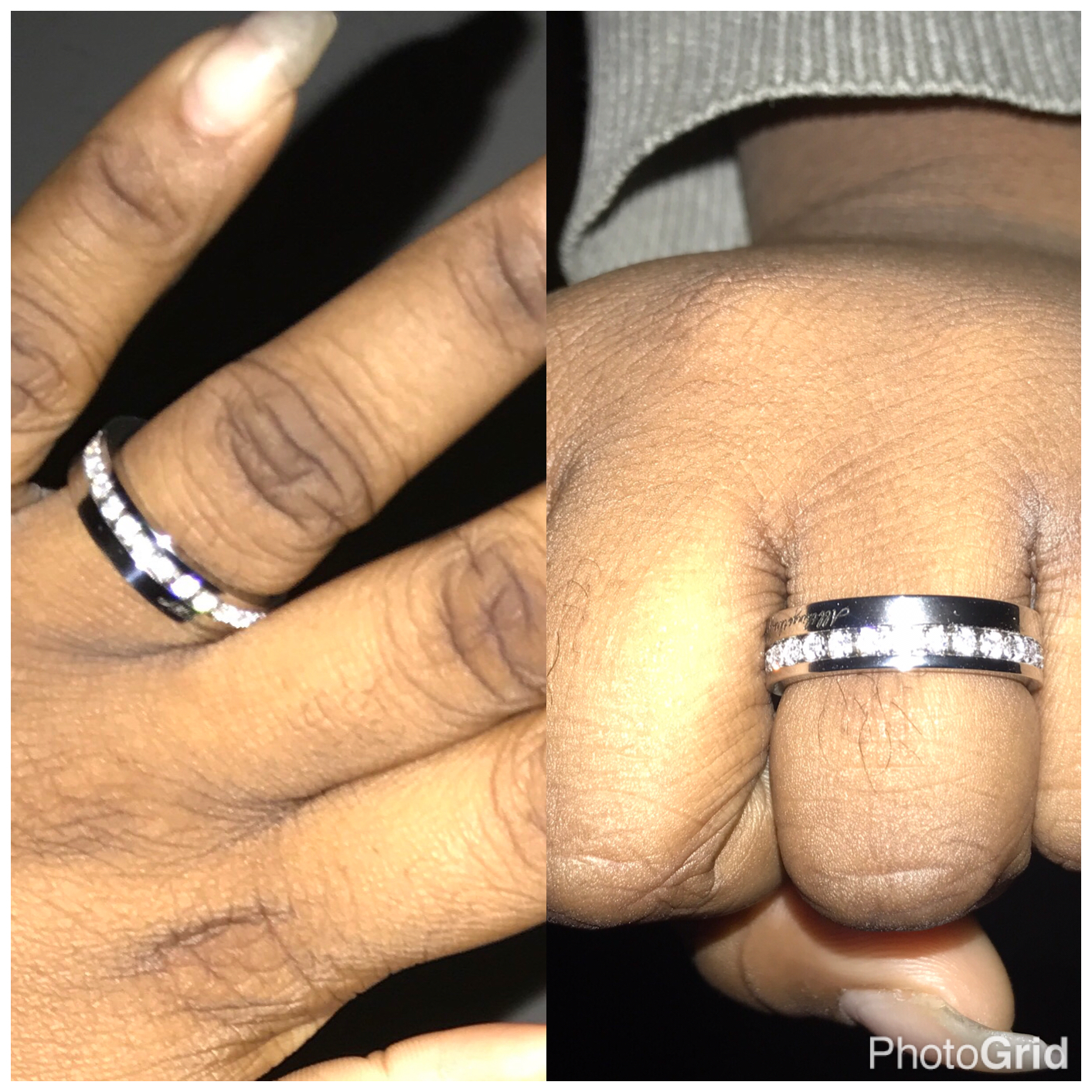 My ring! It says, 'All things through Christ my strength' on the outside and in the inside it says, 'You can do this'