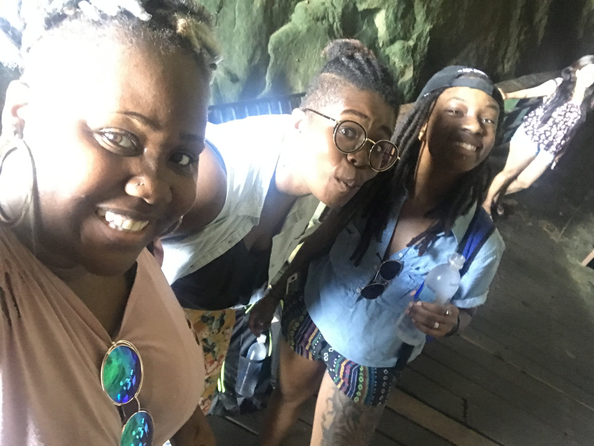 Me, Taneisha, and Morgan in Jim's Cave