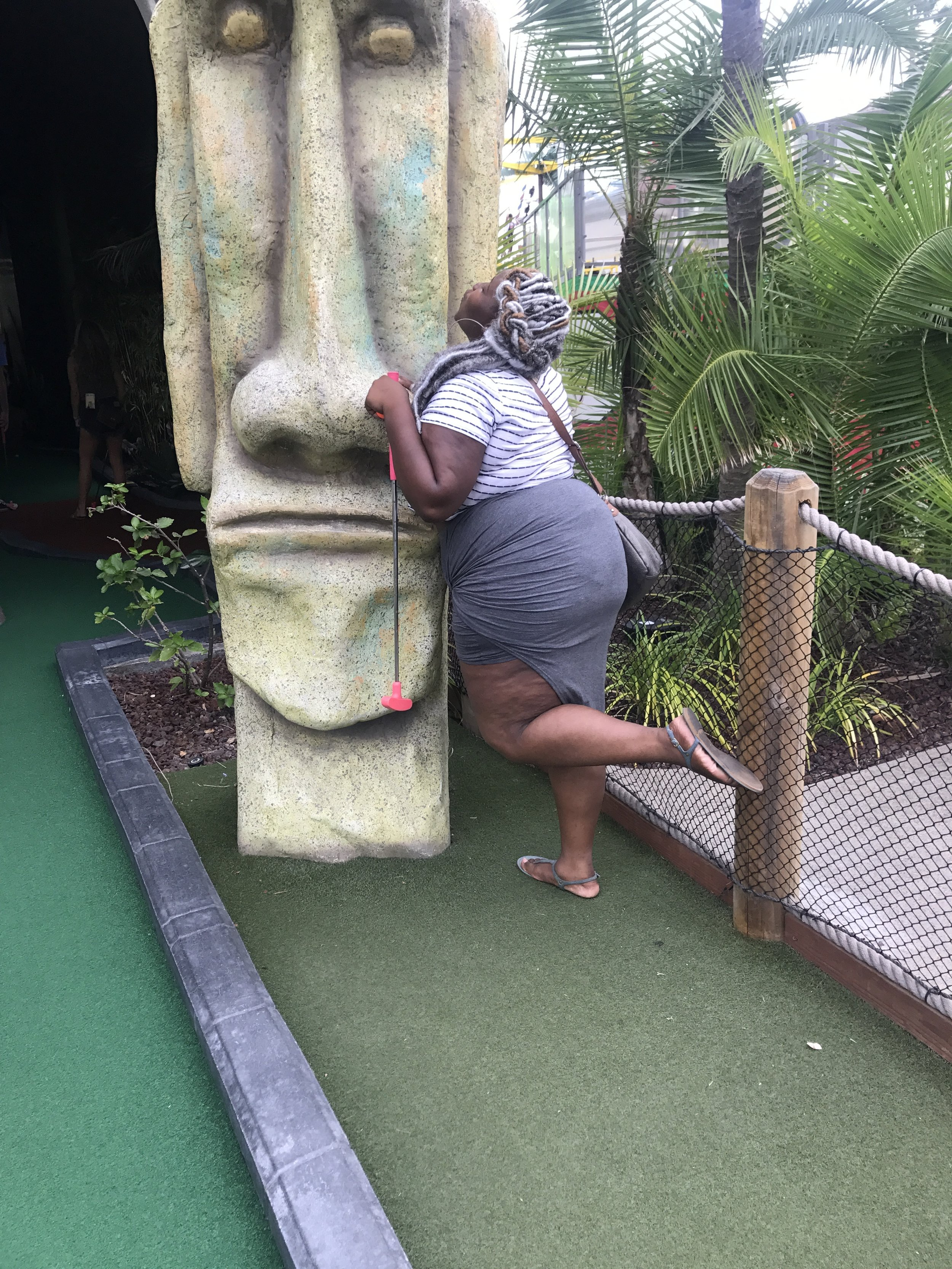 Mini golf (I'm still learning how to play to have fun and not to play to win lol)