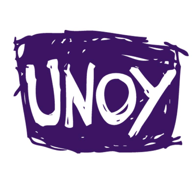 """Case study: Unoy    Situatie : UNOY is een NGO die met 200 jongeren uit 30 landen werkt aan vrede.  Probleem : Het gebrek aan een eenduidig verhaal vermindert de impact.  Aanpak : Eelko heeft samen met het bestuur gewerkt aan de campagne-boodschap en het """"Big Idea"""" hierachter door een tekenaar laten uitwerken.  Resultaat : De hele organisatie communiceert nu hetzelfde verhaal, hetzelfde beeld."""