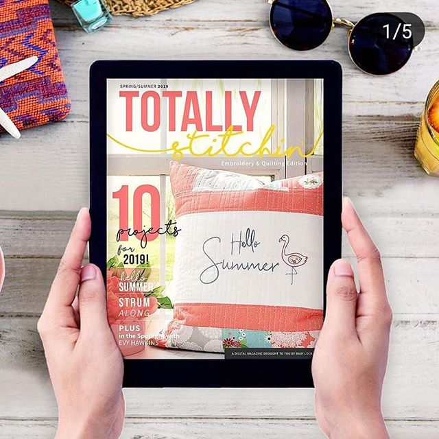 Check out my new Travel Accessory projects in the latest edition of Totally Stitchin.  #dandelionrosedesign  #babylockusa  #babylocksewing  #travel  #travelaccessories  #sewing  #diy