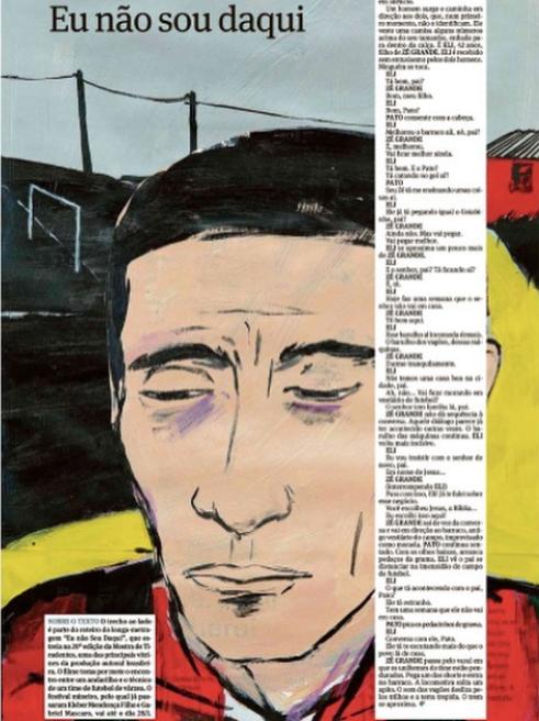 vânia mignone . ilustração para texto de luiz felipe fernandes e alexandre baxter . caderno ilustríssima . folha de s. paulo . 22.01.2017