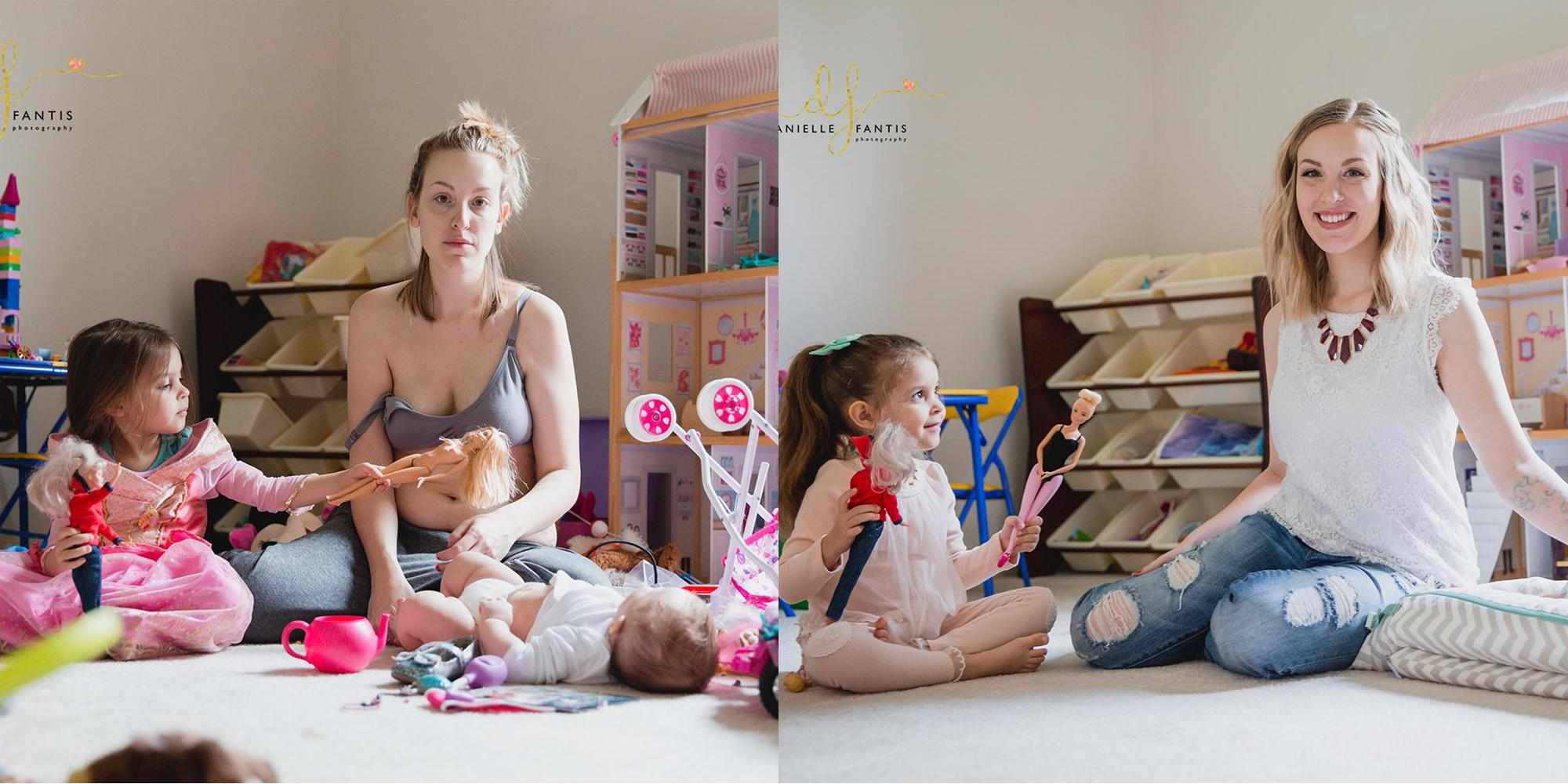 Kathy DiVincenzo, Ohio (real life postpartum vs. instagram postpartum)