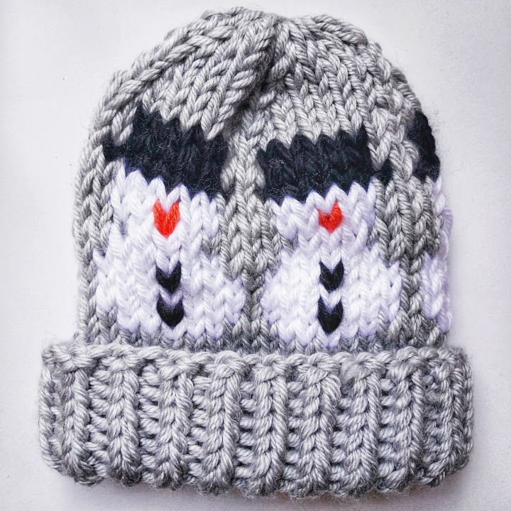 I released this free 'Frosty Beanie' pattern! Is that enough?