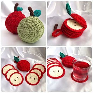 Sliced Apple Coaster Set by Ling Ryan