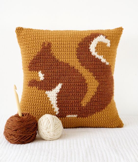 Squirrel Cushion by LittleDoolally