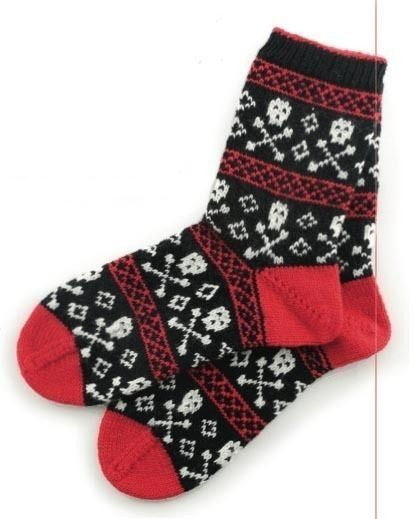 Skull Isle Socks by Debbie Stoller for Stitch 'n Bitch Superstar Knitting: Go Beyond the Basics