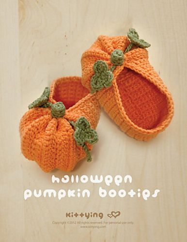 Halloween Pumpkins Baby Booties by Kittying Ling
