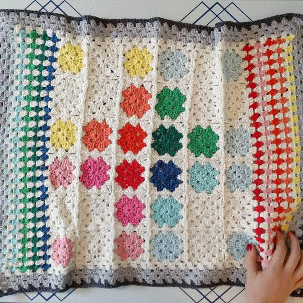 Baby blanket made with  Paintbox Cotton DK