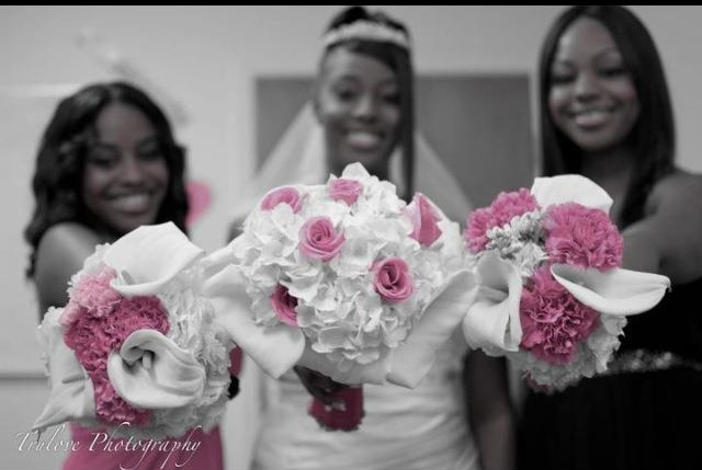 My first wedding in March 2012, selective color and all.
