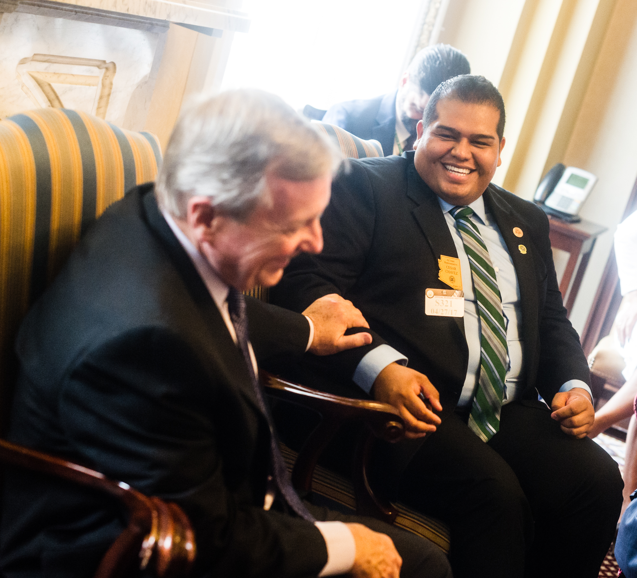 """Among many issues that Senator Durbin (IL) and I talked about, accessible healthcare was the top priority."""