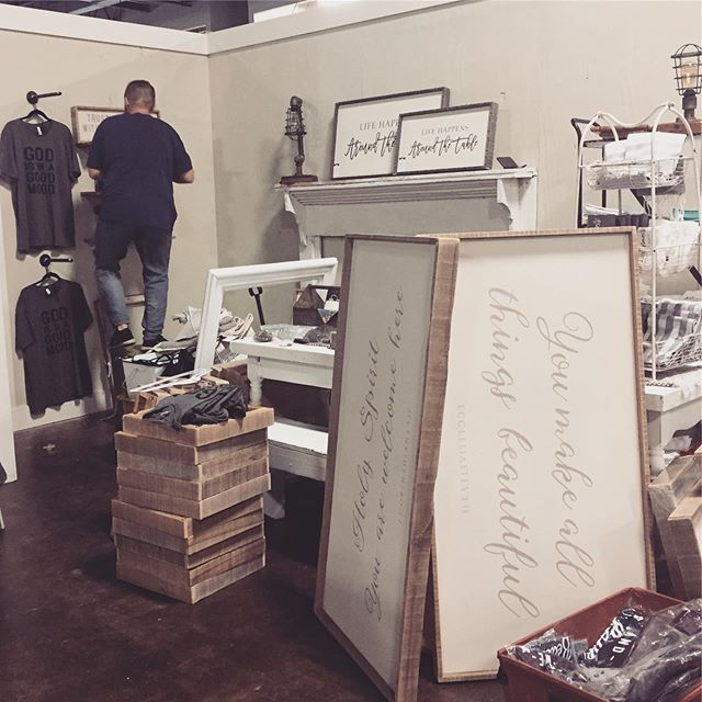 Fun times....the adventure has begun.  2 more sleeps and the store opens  so many beautiful booths.  Come check out Painted tree marketplace. #newstore #boutique #clothing #homedecor #lifehappensaroundthetable #shoptillyoudrop
