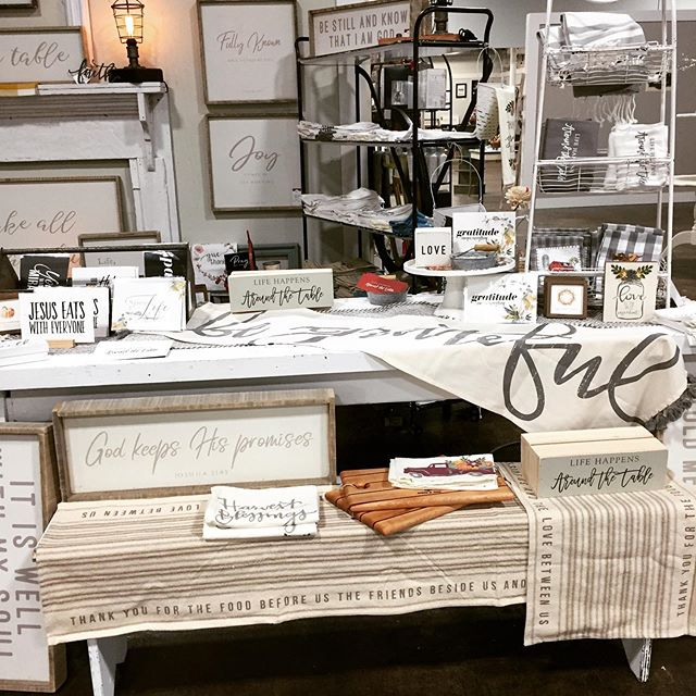 First day!!! Painted Tree marketplace is open. Huge success!!! Come check out our fall table runners. So many possibilities.  Stop by tomorrow.  New vendors opening everyday.  #shopping #fall #falldecor #homedecor #clothing #lifehappensaroundthetable #smallbusiness #fun #creativity