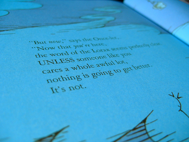Photo Credit: Zoe Toseland Dr. Seuss Lorax Flickr.com