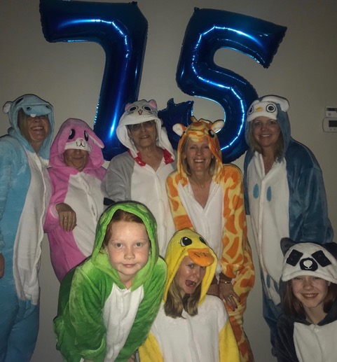 My birthday slumber party with my daughters, grand-daughters, and sister-in-law.