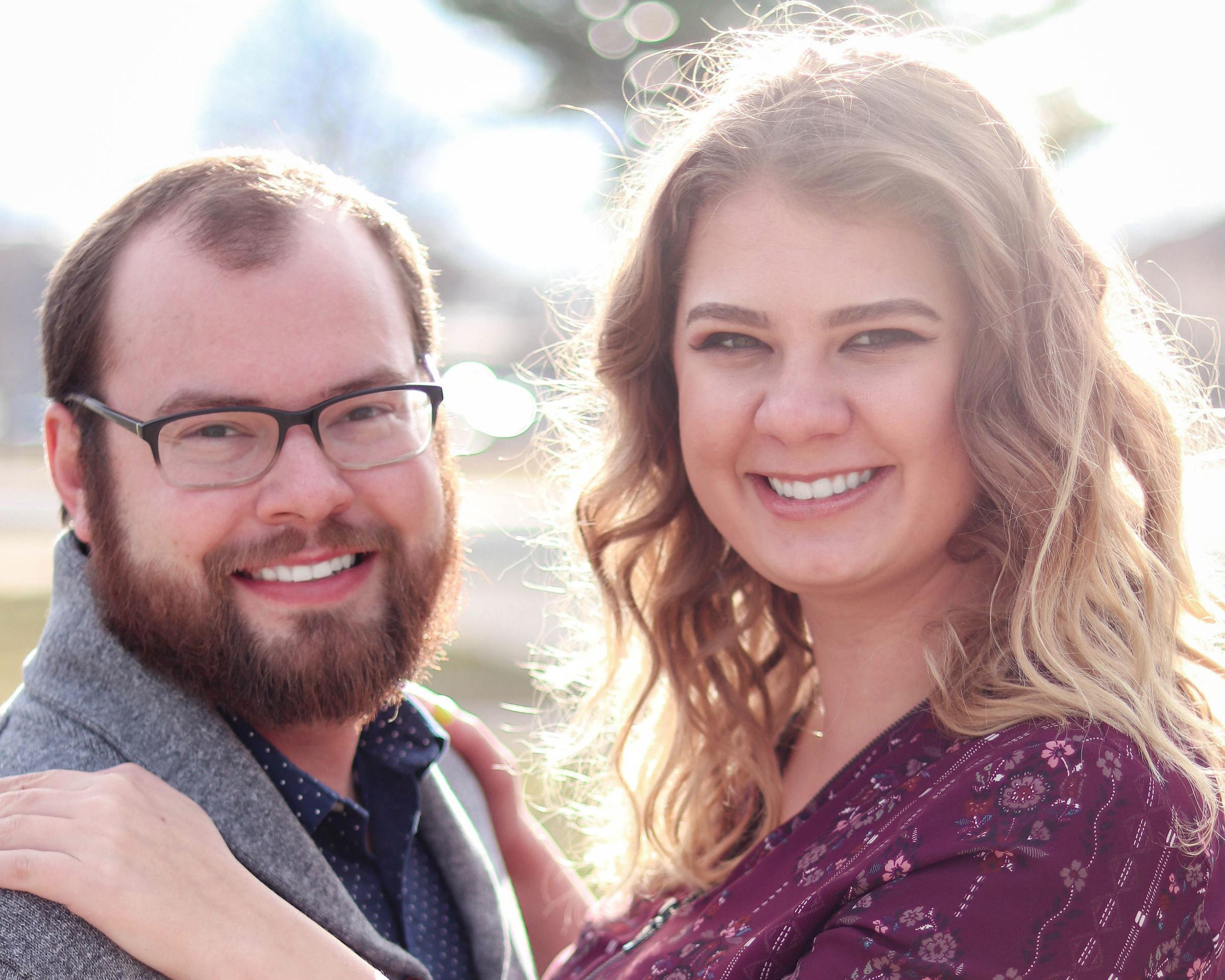 Vince Derr  and fiance, Victoria Litwiller