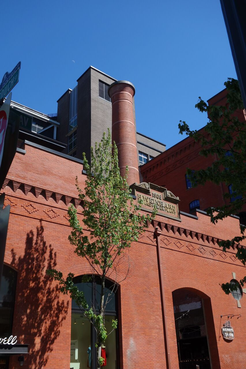 The transformation of the old brewery into the new Brewery Blocks included the renovation of the historical Armory Building into Portland Center Stage's Gerding Theater.