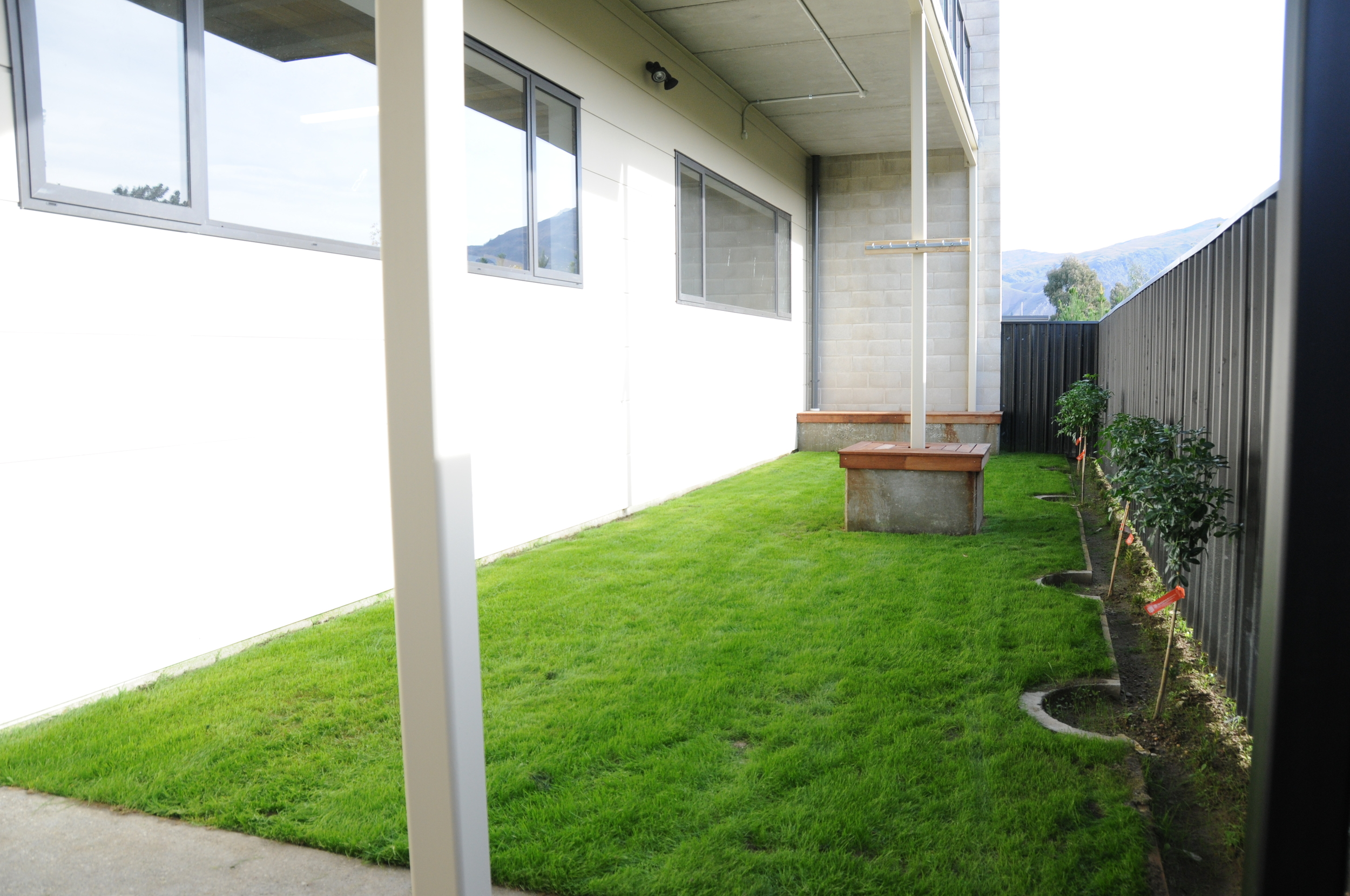 Private and enclosed BBQ area at the rear of the property