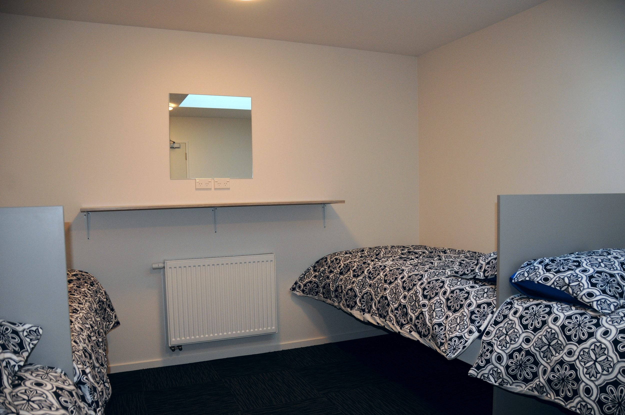 One of three four-bed rooms in the complex