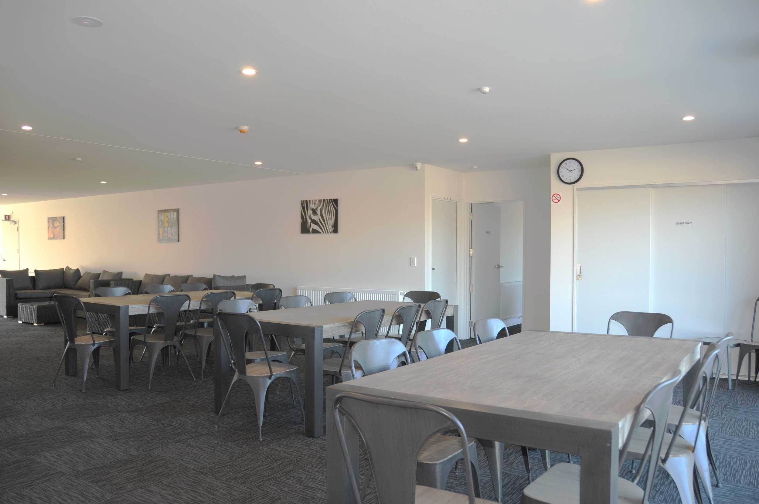 Communal dining area, adjacent to the self-catering kitchen