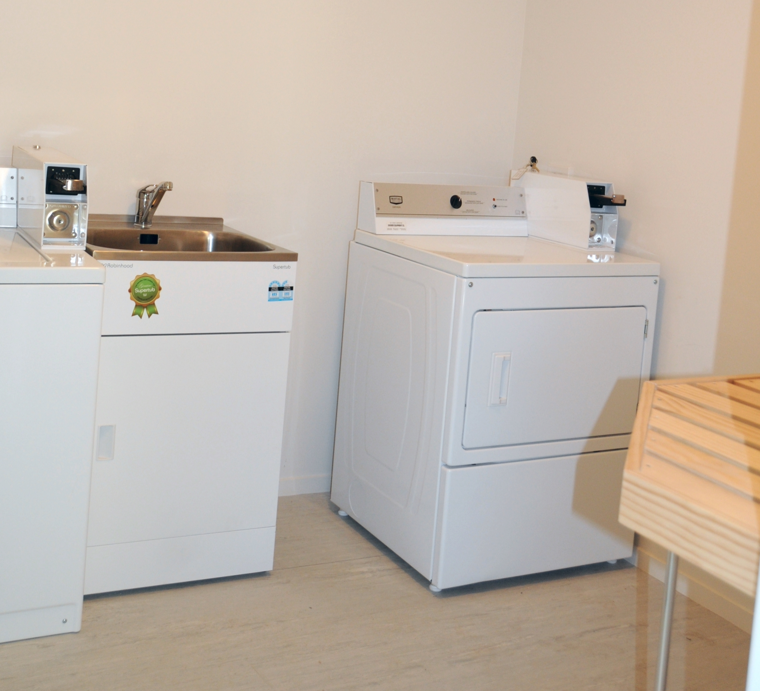 Laundry with coin operated washer and dryer