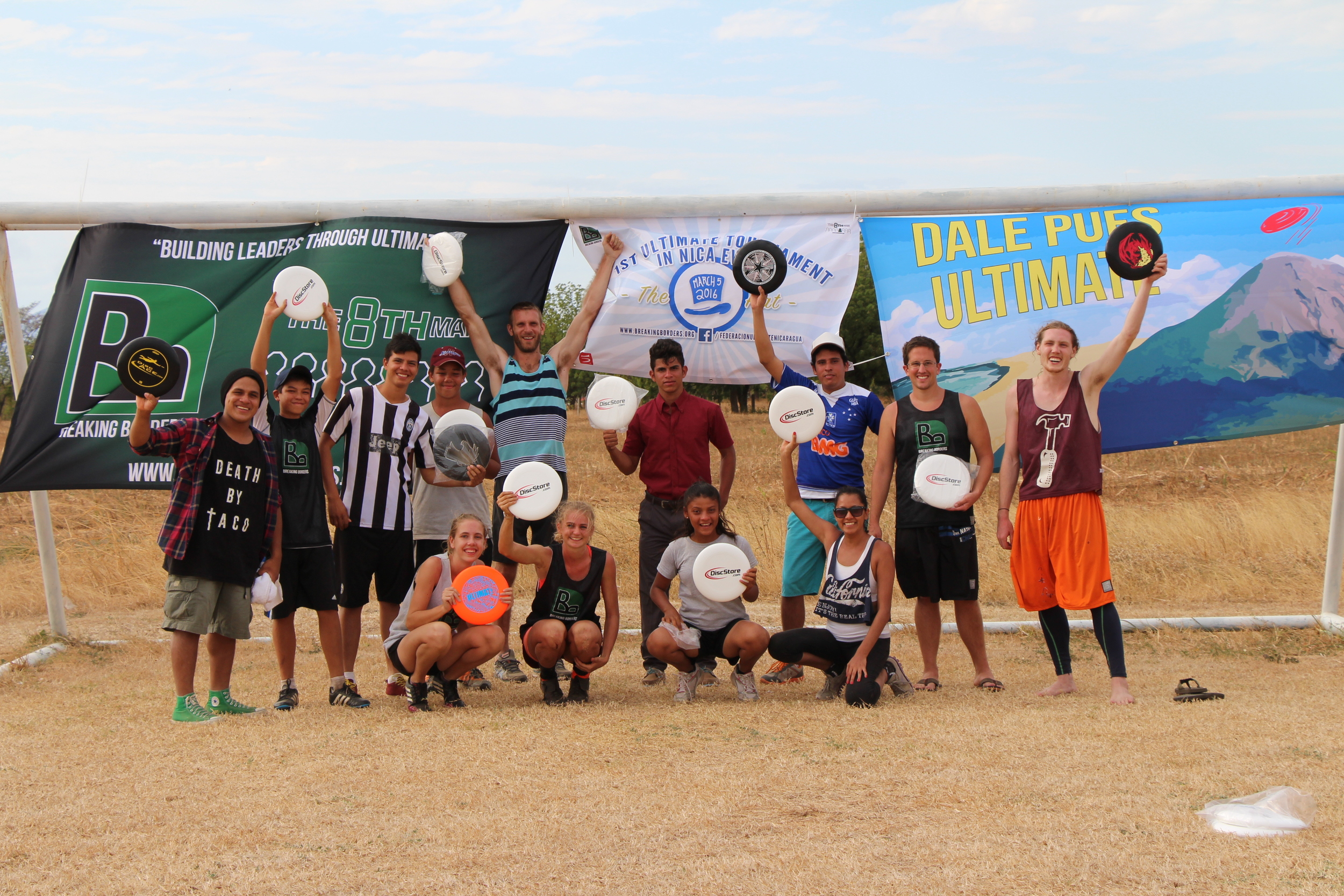 Team Momotombo- Winners of the first ever Ultimate tourney in Nicaragua!