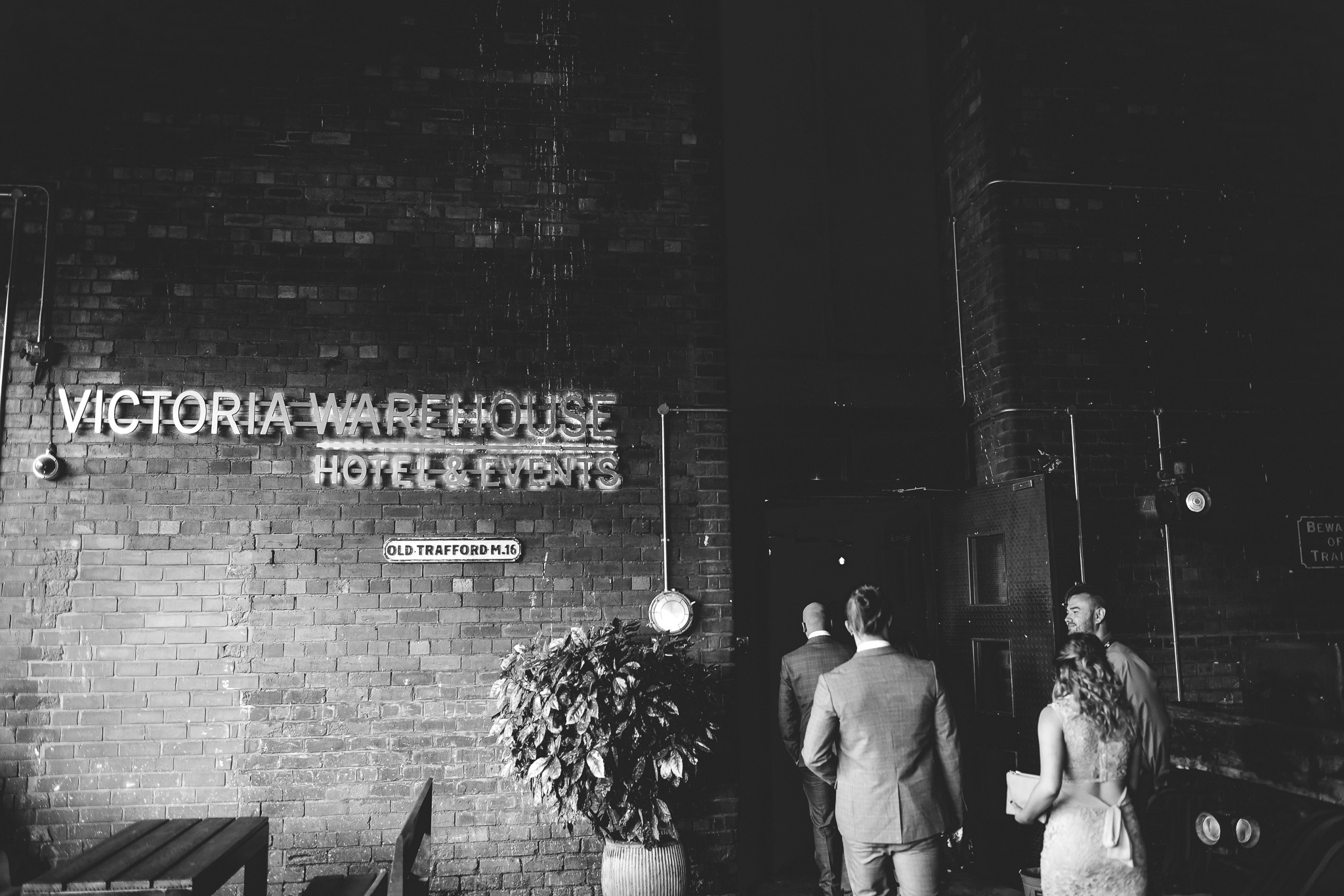 Guests arriving at Victoria Warehouse