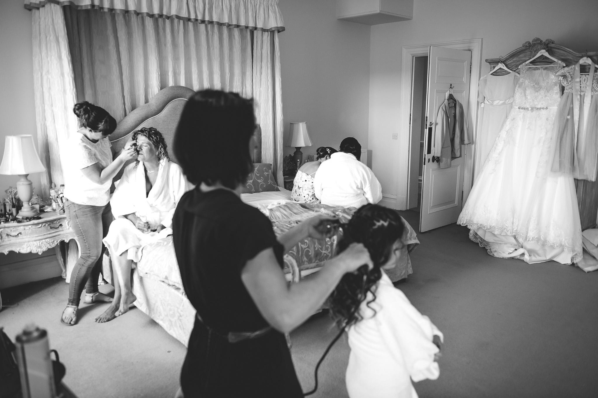 bride in bridal suit