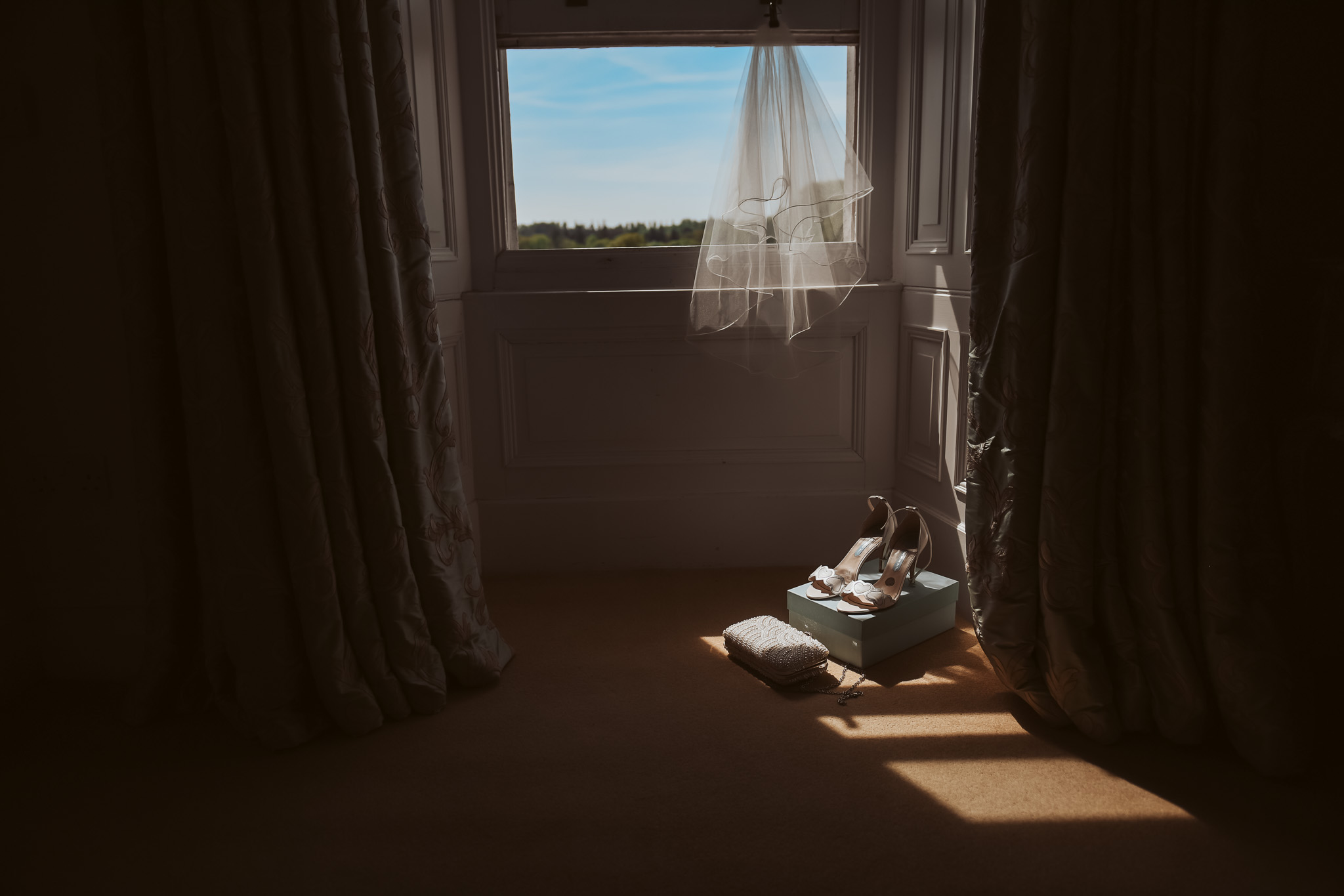 Shoes in natural window light