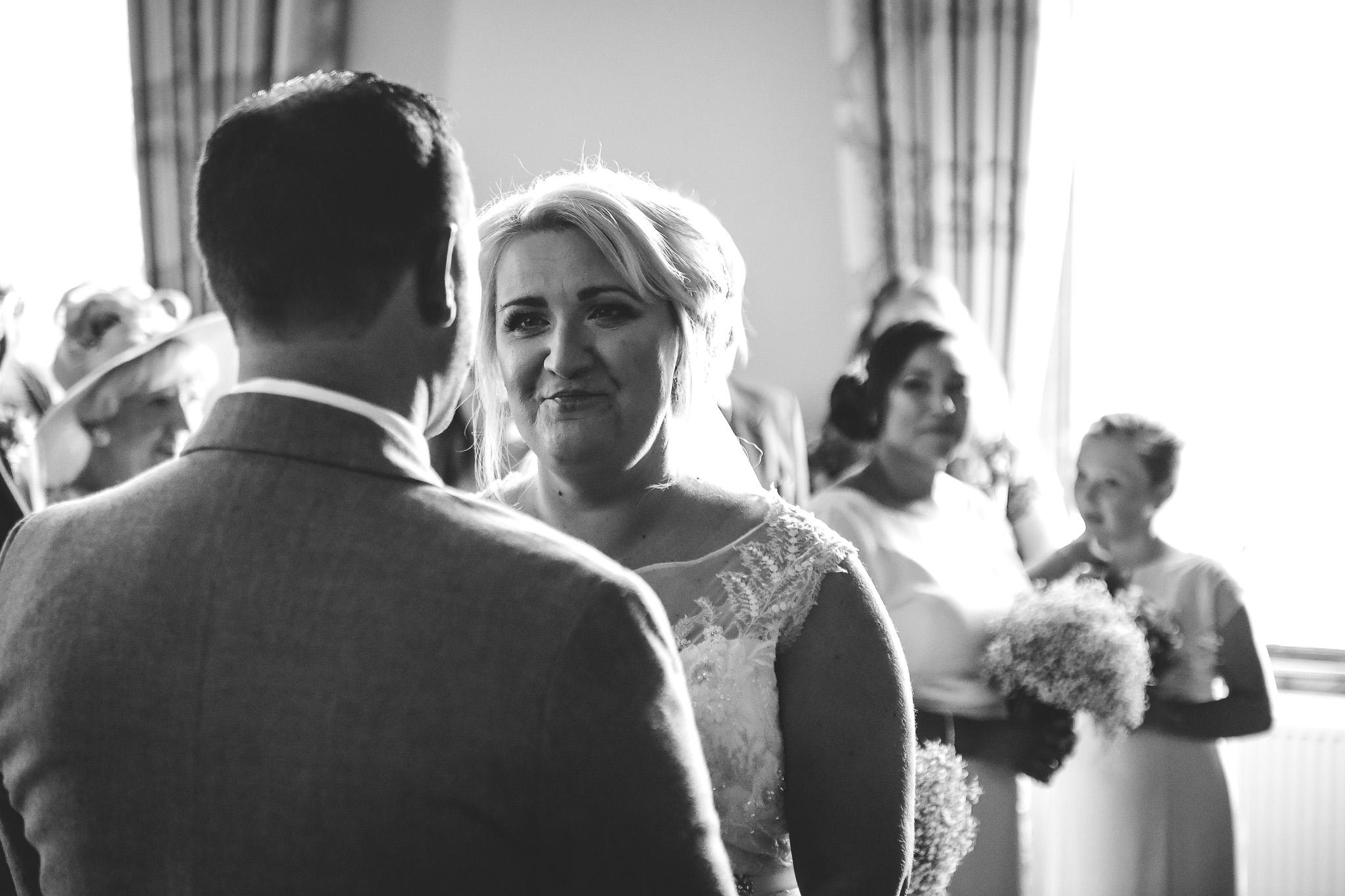 Happpy wedding guests