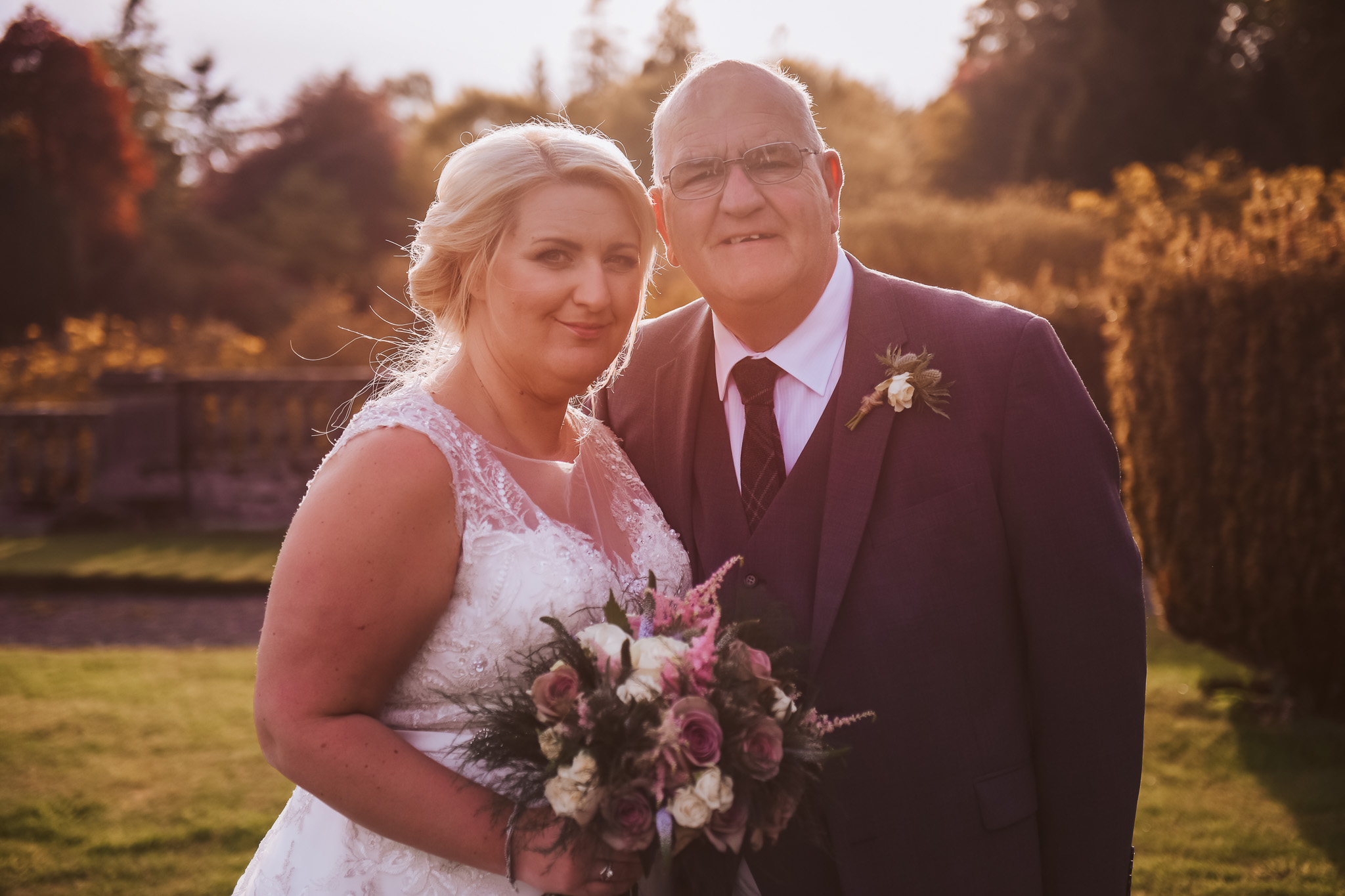 Bride with the father of the bride