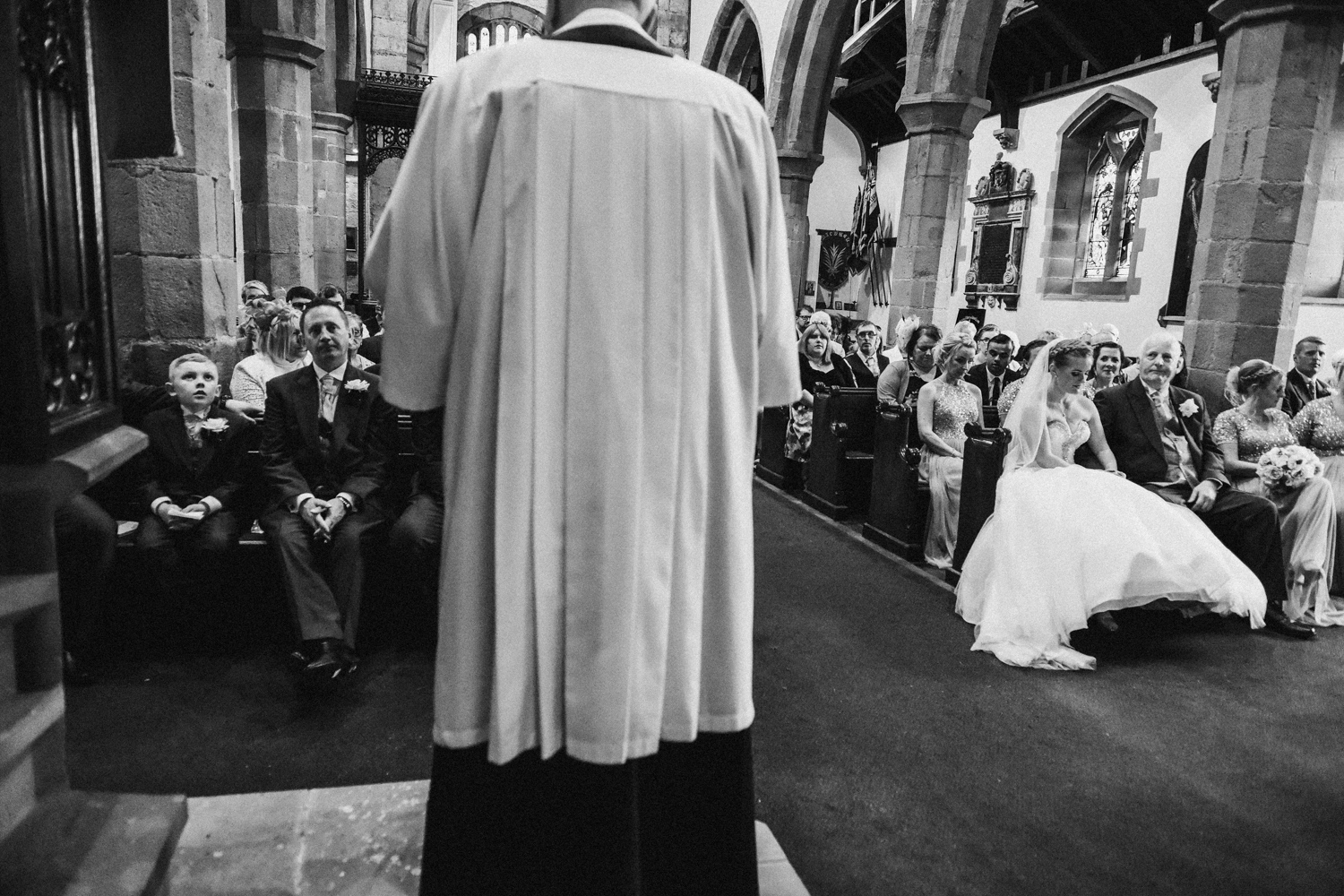 Vicar conducting the ceremony