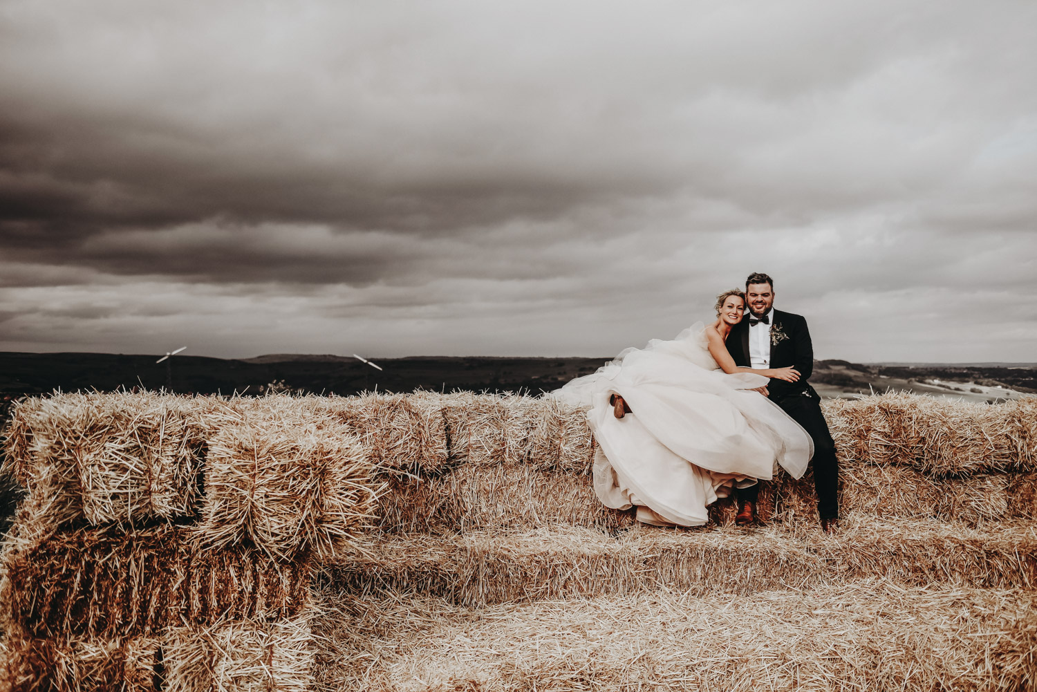 yorkshire bride and groom posing