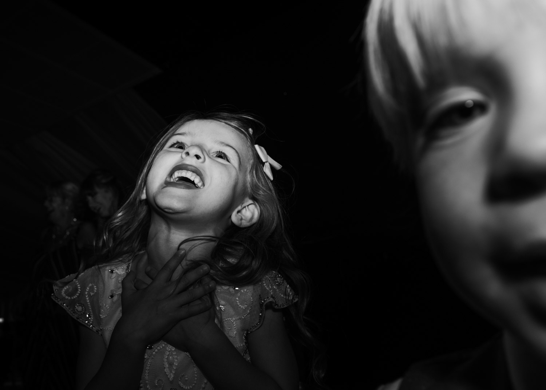 children playing on the dancefloor