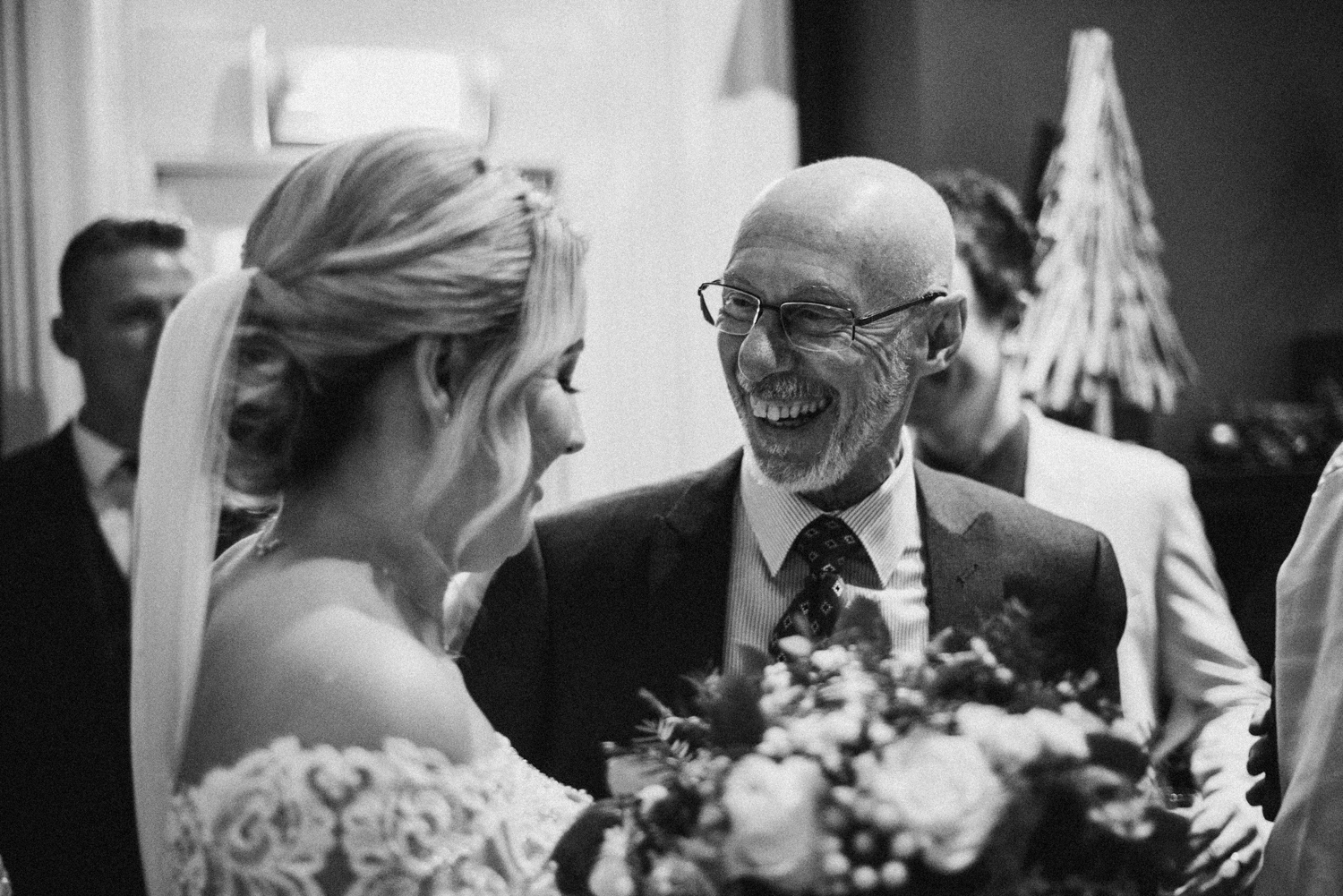 happy times with the bride
