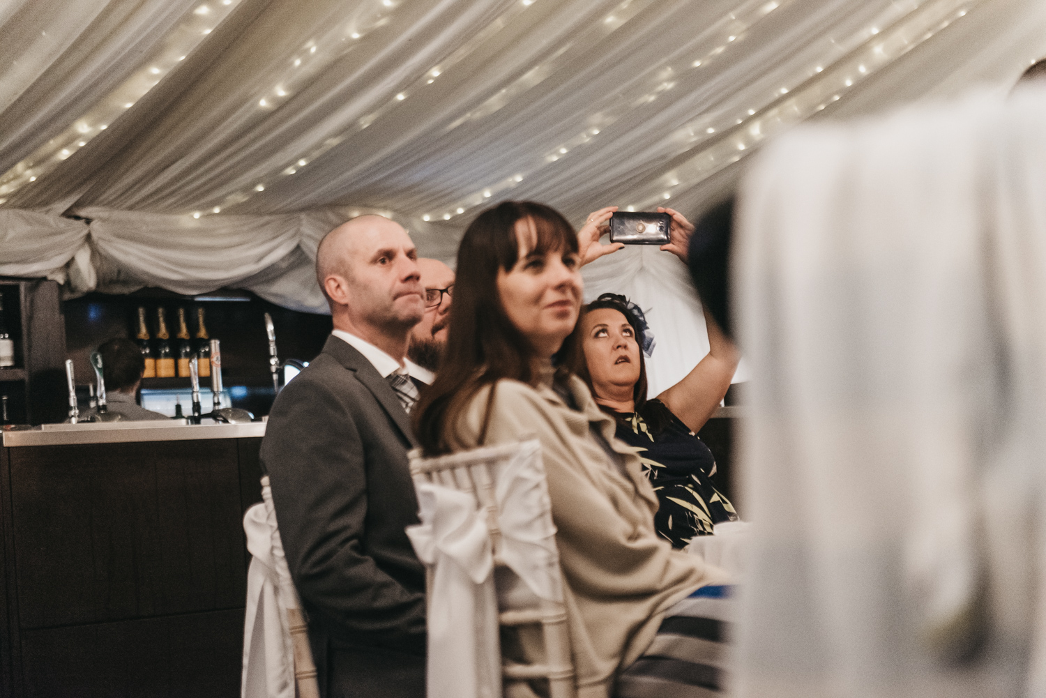 Guests taking photos
