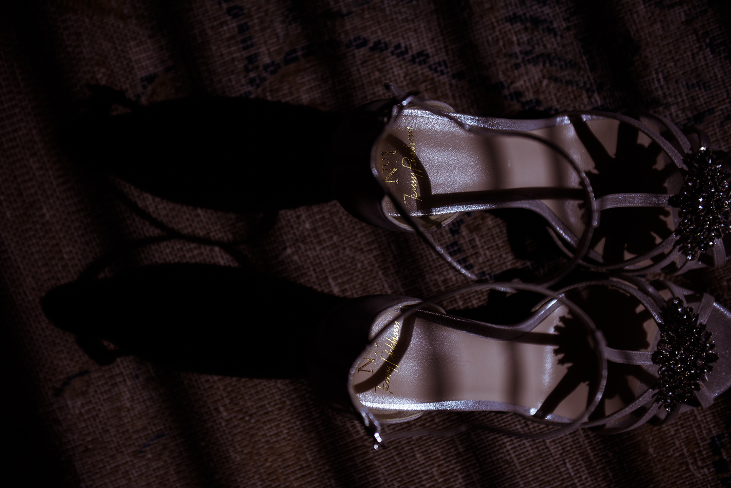 Shoes in streaming sunlight