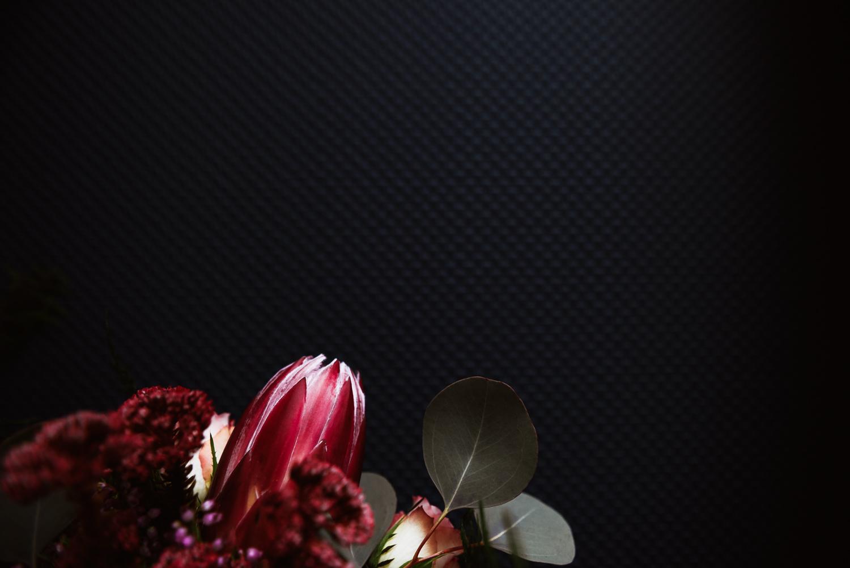 Creative photograph of wedding flowers