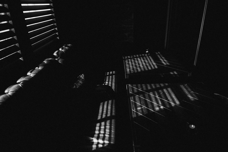 Light streaming through window